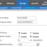 Cisco Linksys WAG320N Router - FTP Access